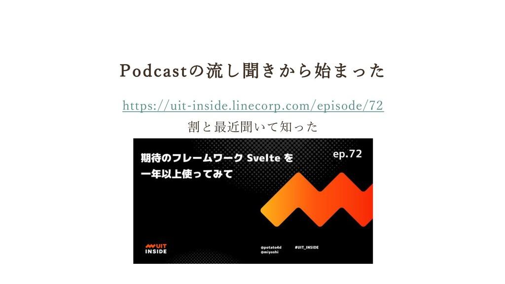 Podcastの流し聞きから始まった https://uit-inside.linecorp....