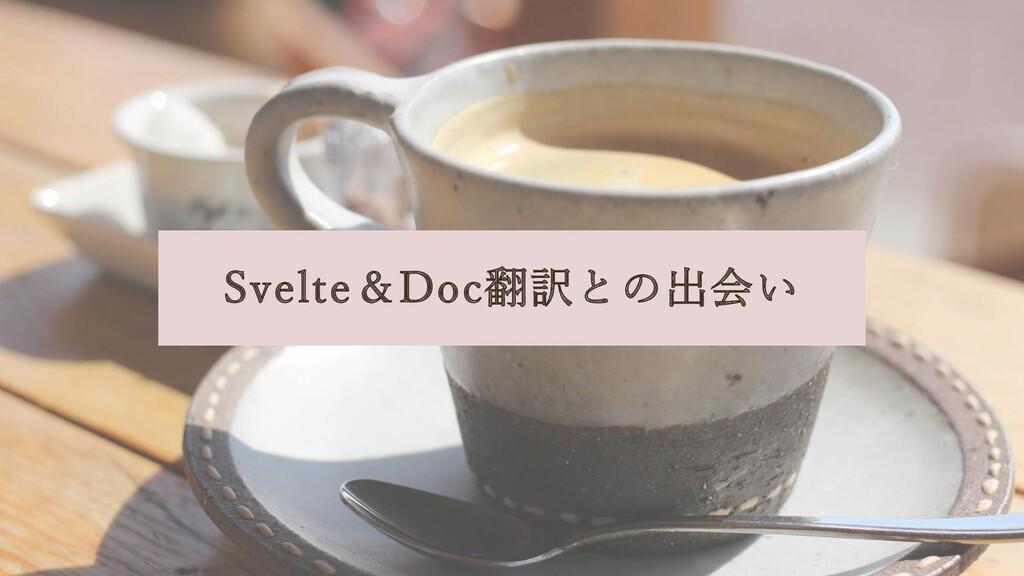 Svelte&Doc翻訳との出会い
