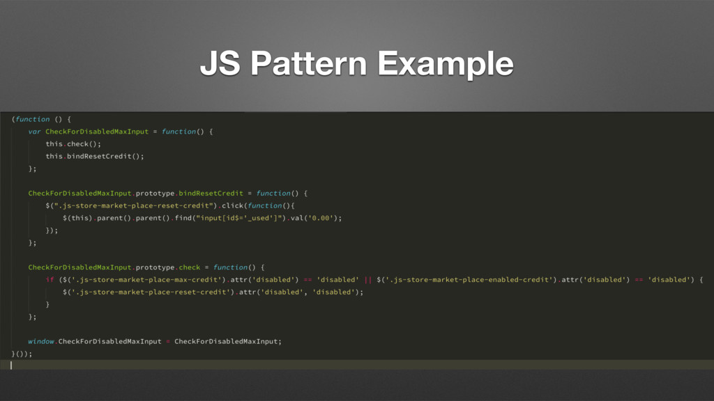 JS Pattern Example