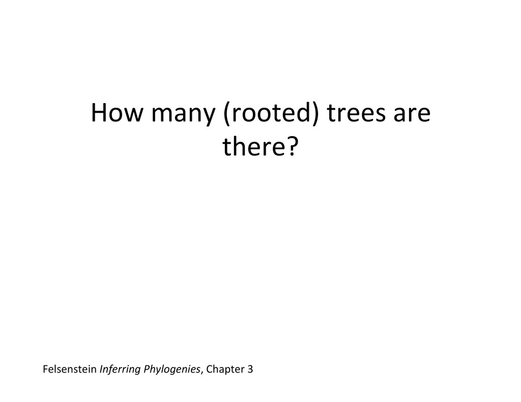 How many (rooted) trees are  the...