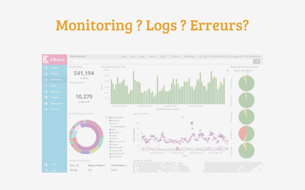Monitoring ? Logs ? Erreurs?