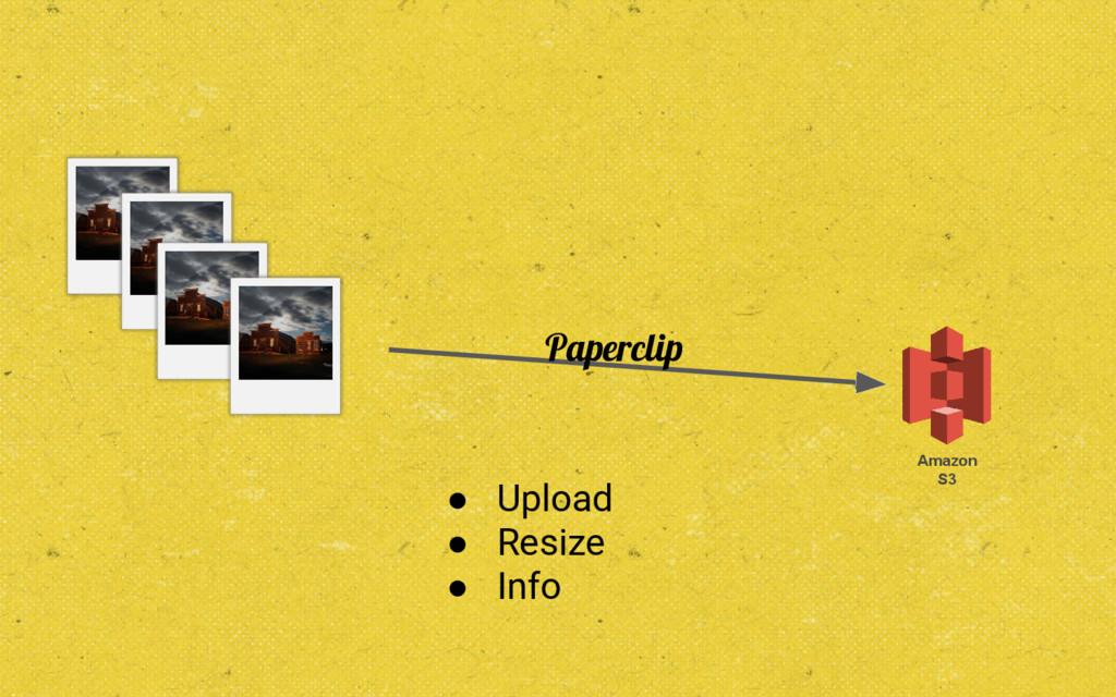 Amazon S3 Paperclip ● Upload ● Resize ● Info