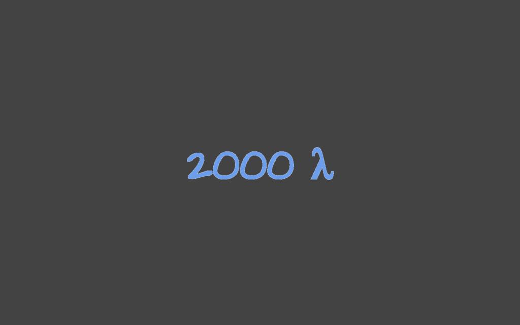 2000 λ
