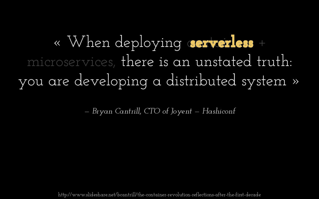 « When deploying containers + microservices, th...
