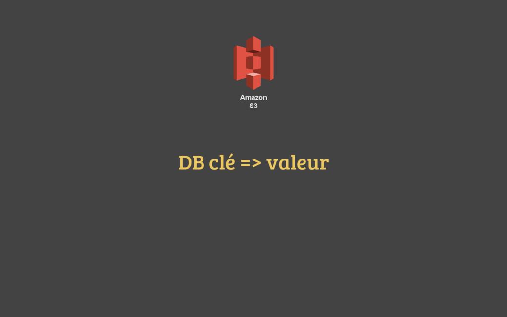 Amazon S3 DB clé => valeur