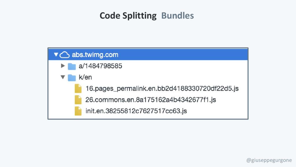 Code Splitting Bundles @giuseppegurgone