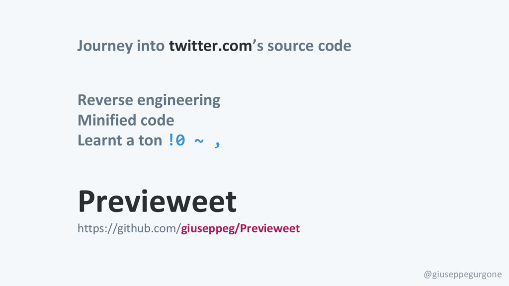 Journey into twitter.com's source code @giusepp...
