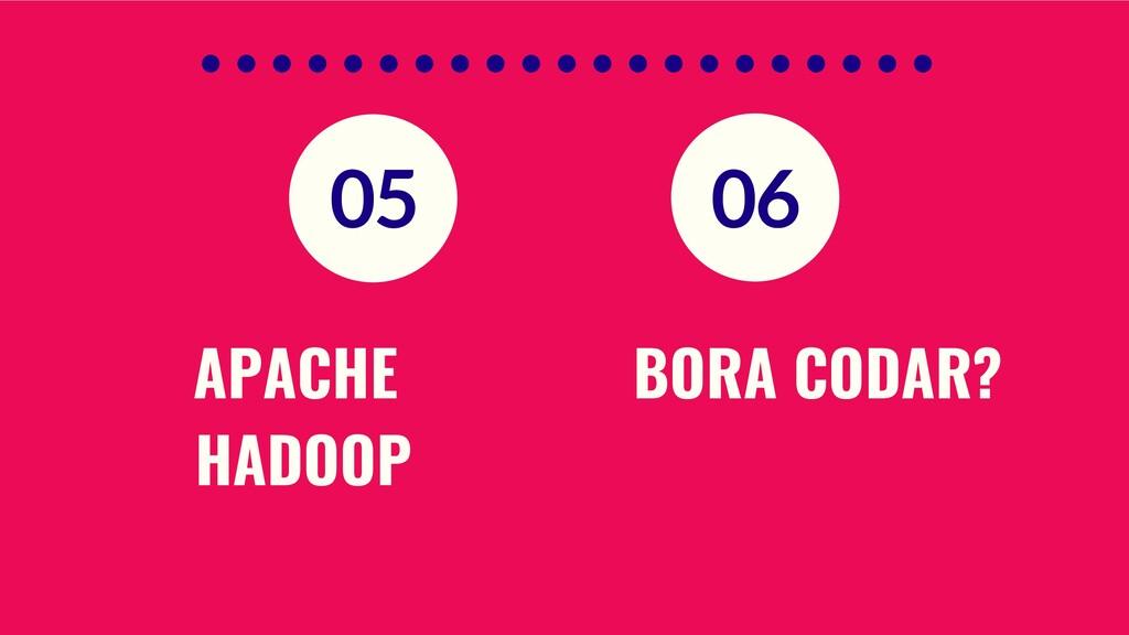 APACHE HADOOP BORA CODAR? 05 06