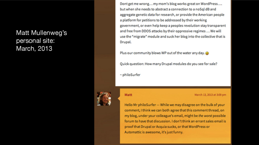 Matt Mullenweg's personal site: March, 2013