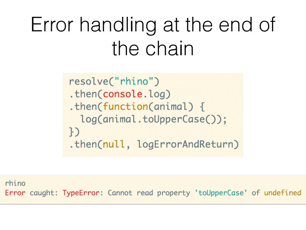 Error handling at the end of the chain