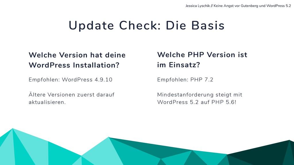 Empfohlen: PHP 7.2 Mindestanforderung steigt mi...
