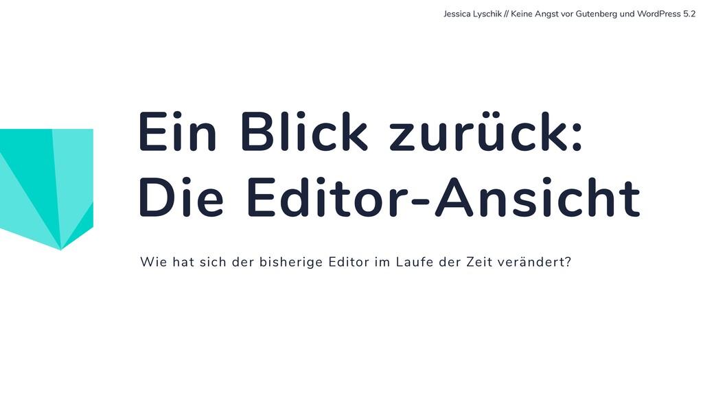 Wie hat sich der bisherige Editor im Laufe der ...