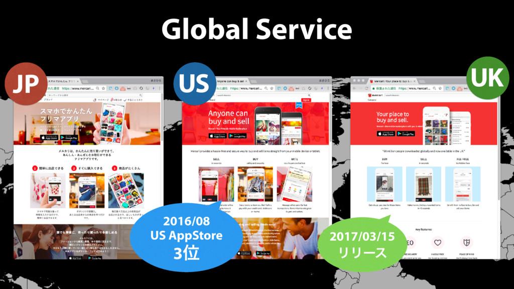 Global Service JP 2016/08 US AppStore 3Ґ US UK ...