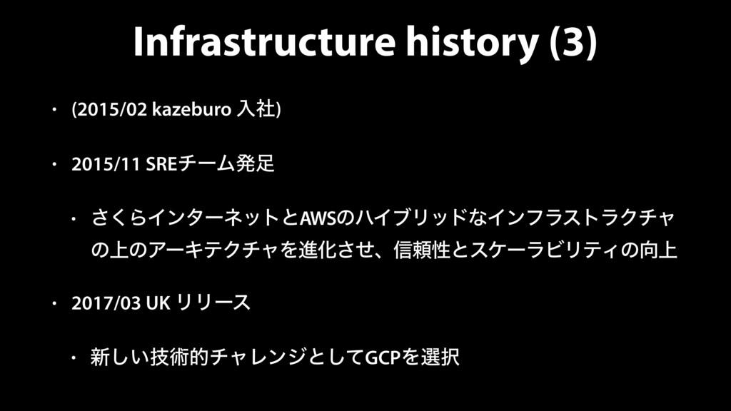 Infrastructure history (3) • (2015/02 kazeburo ...