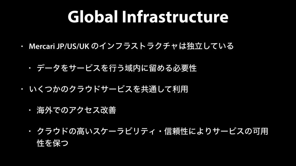 Global Infrastructure • Mercari JP/US/UK ͷΠϯϑϥε...
