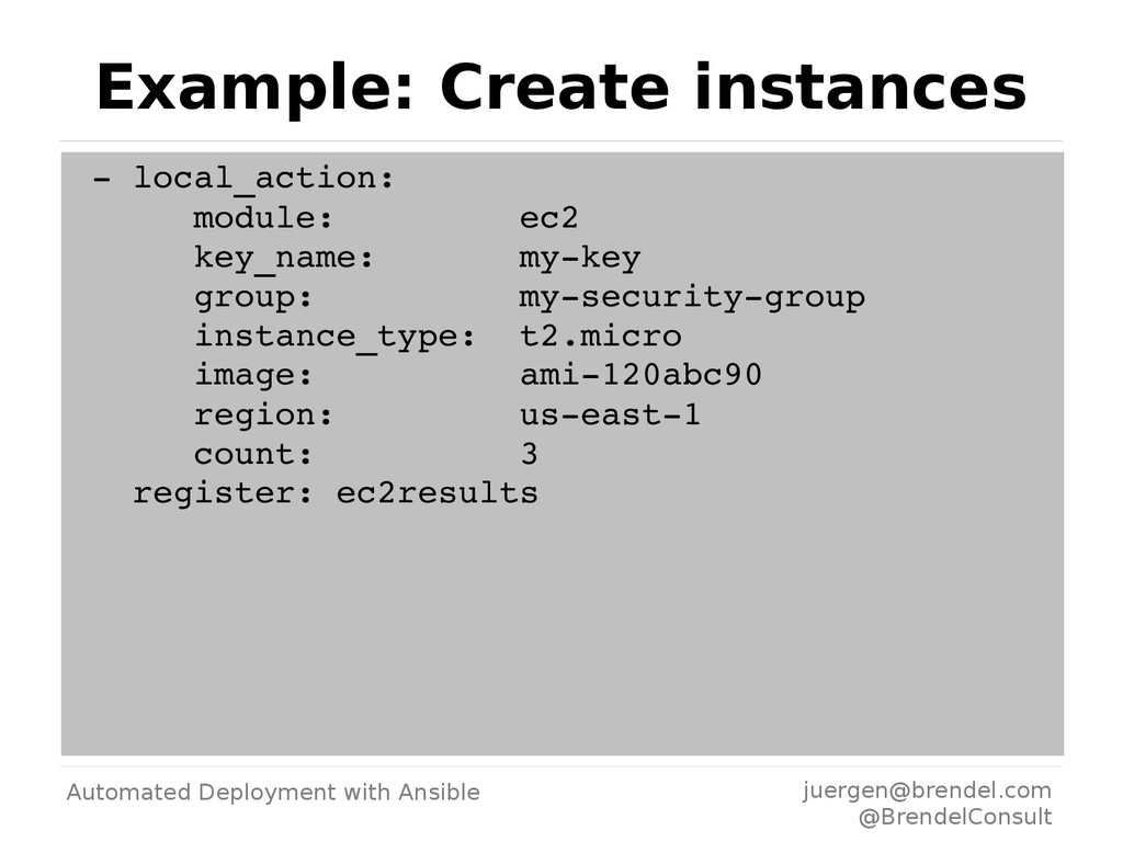 Automated Deployment with Ansible juergen@brend...