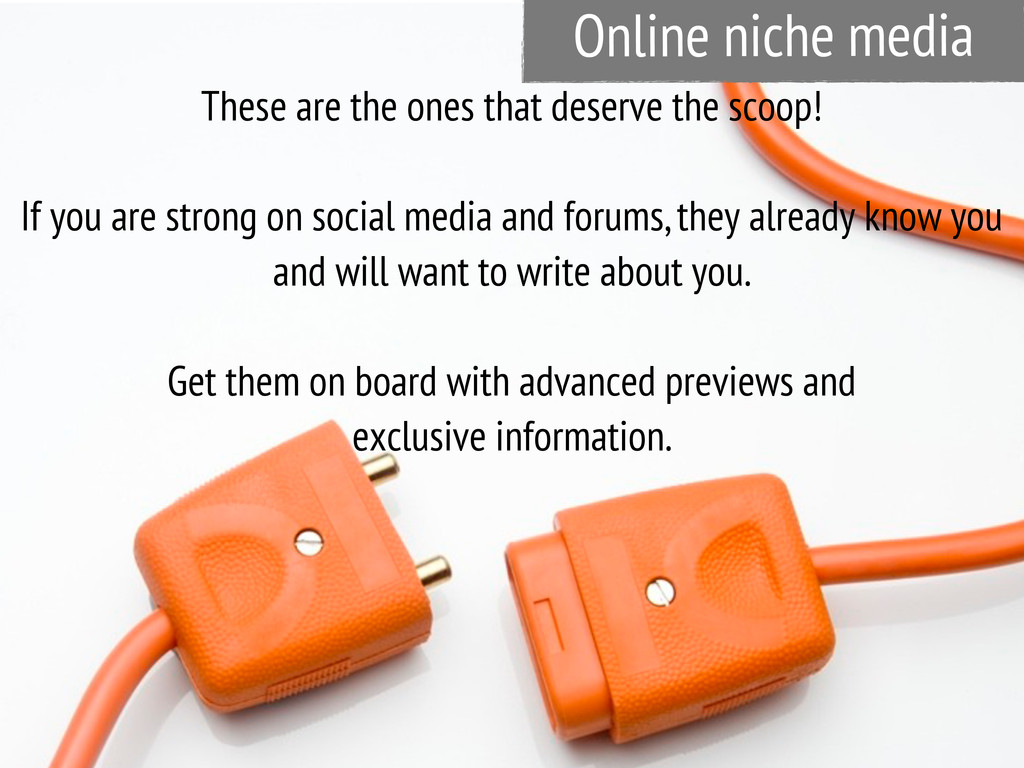 Online niche media These are the ones that dese...