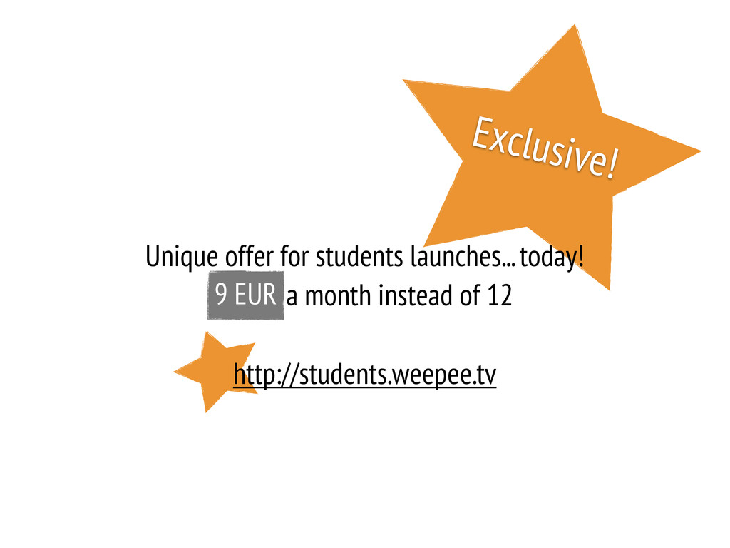 Exclusive! Unique offer for students launches.....