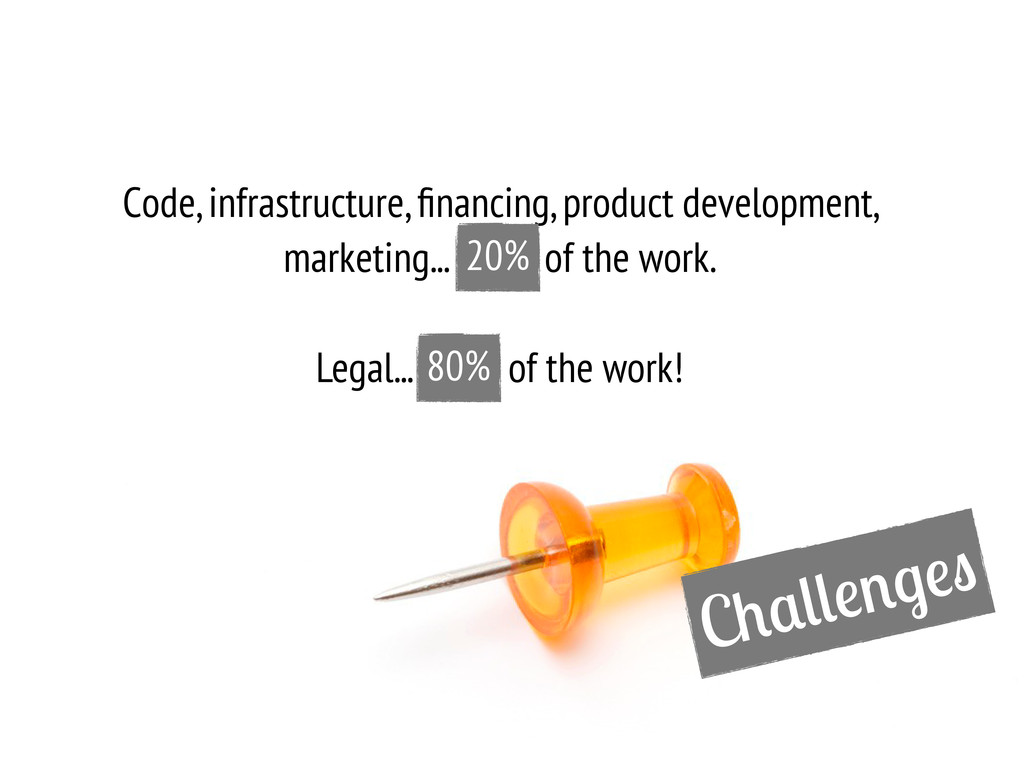 C Code, infrastructure, financing, product devel...