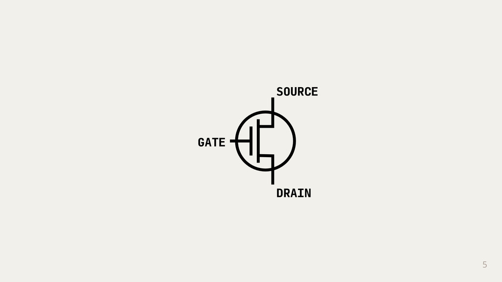 5 GATE SOURCE DRAIN
