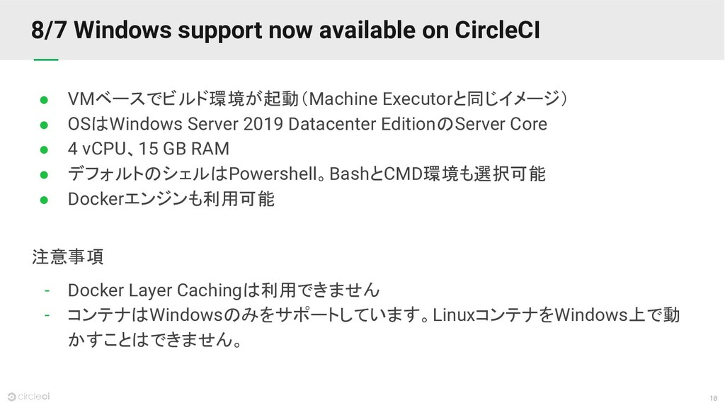 10 8/7 Windows support now available on CircleC...