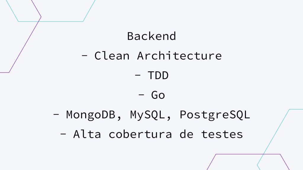 Backend - Clean Architecture - TDD - Go - Mongo...
