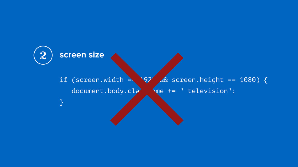 screen size if (screen.width == 1920 && screen....