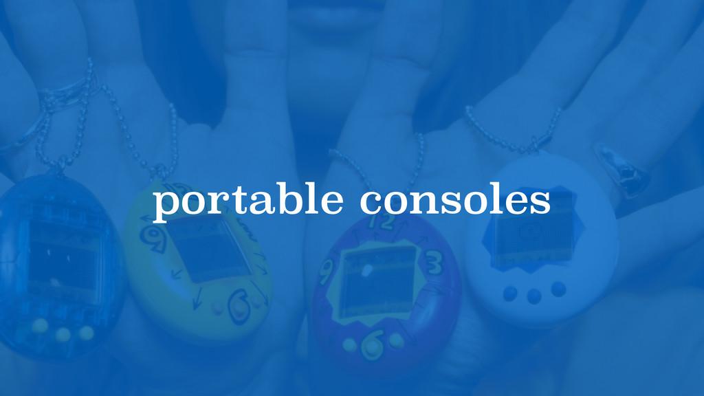 portable consoles