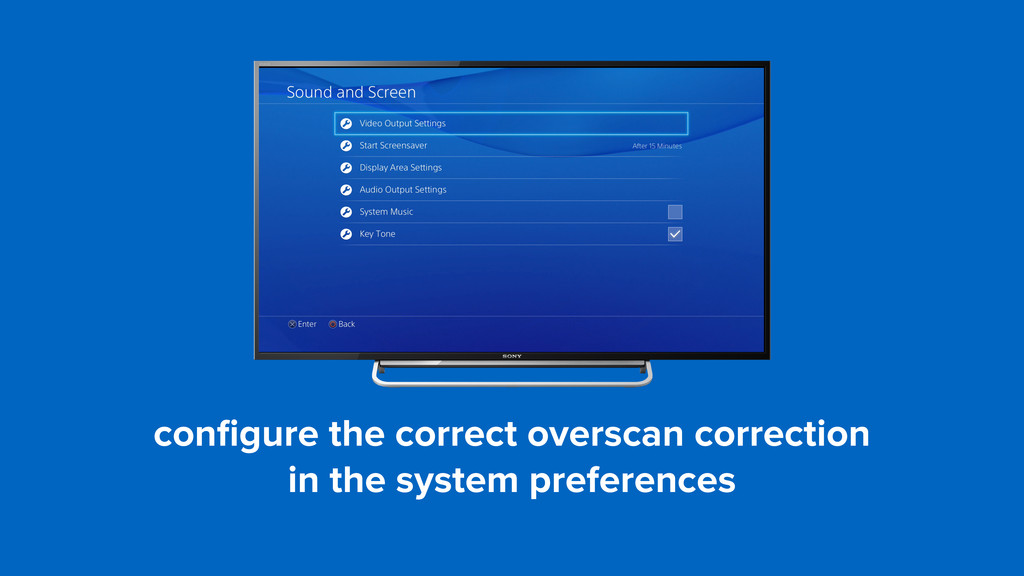 configure the correct overscan correction 