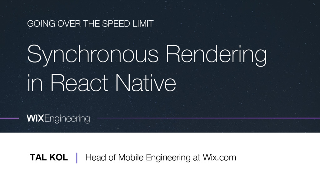 Synchronous Rendering in React Native GOING OVE...