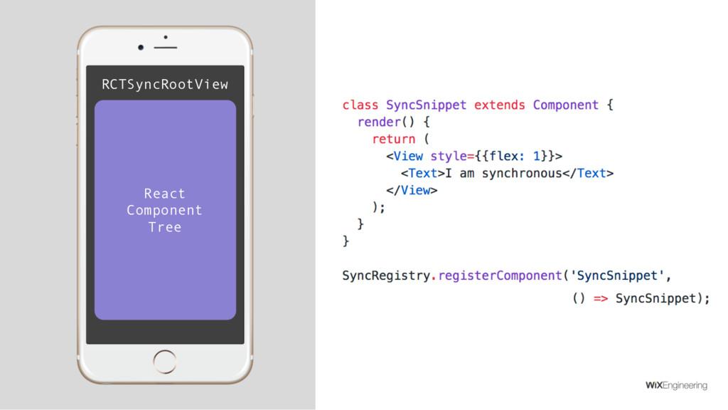 RCTSyncRootView React Component Tree