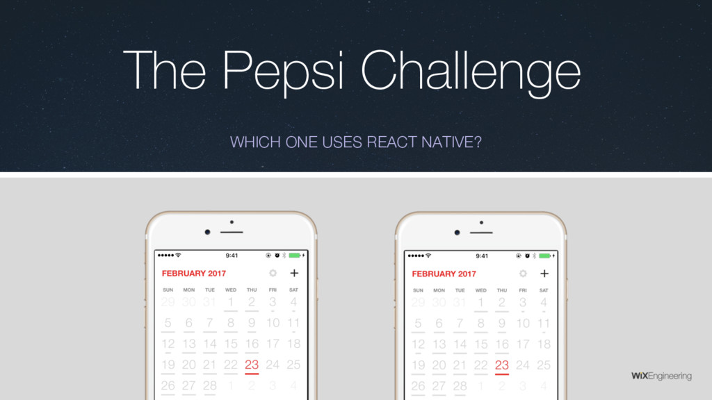 The Pepsi Challenge WHICH ONE USES REACT NATIVE?