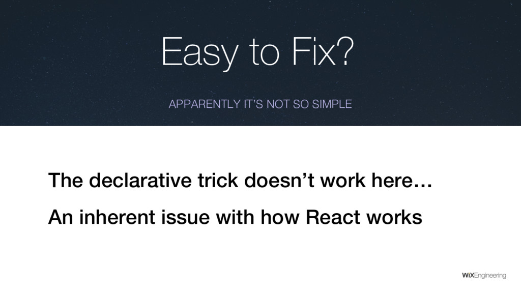 Easy to Fix? APPARENTLY IT'S NOT SO SIMPLE The ...