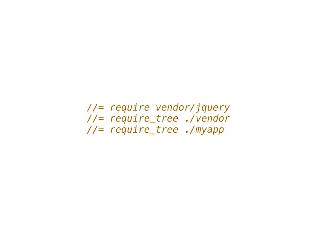 //= require vendor/jquery //= require_tree ./ve...