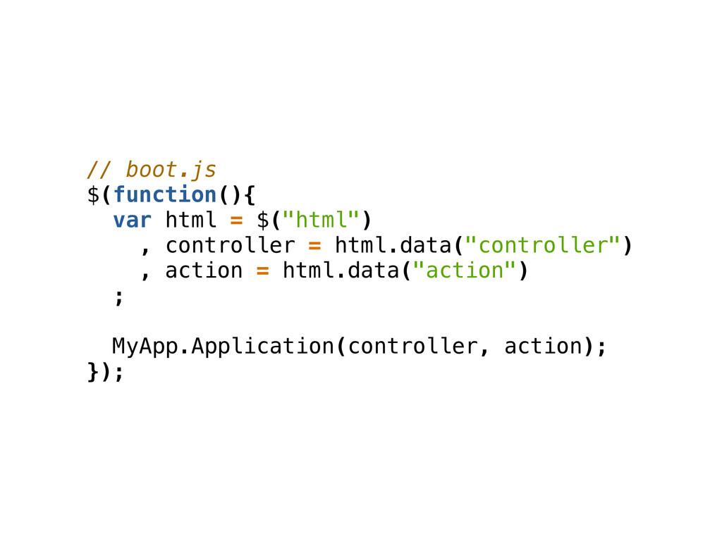 """// boot.js $(function(){ var html = $(""""html"""") ,..."""