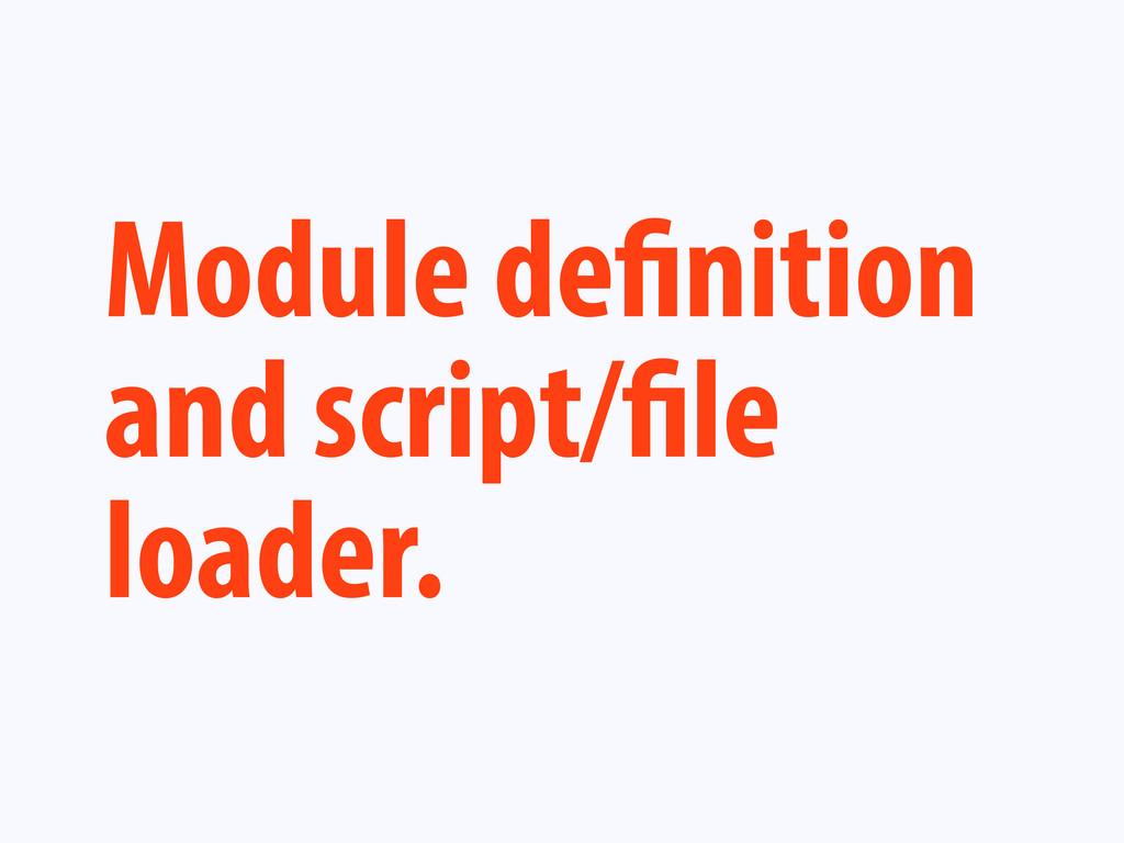 Module de nition and script/ le loader.