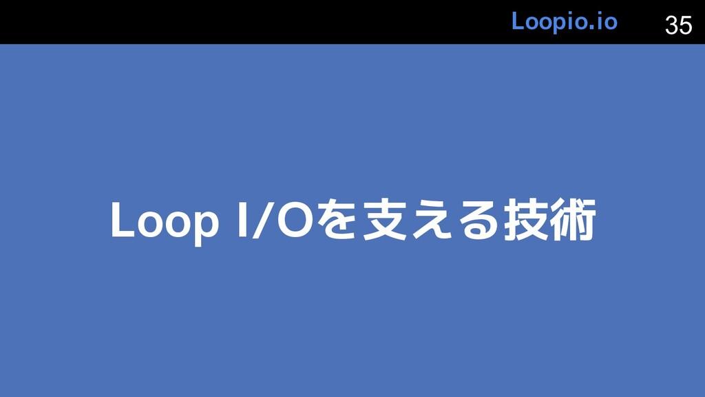 Loop I/Oを支える技術 35 Loopio.io