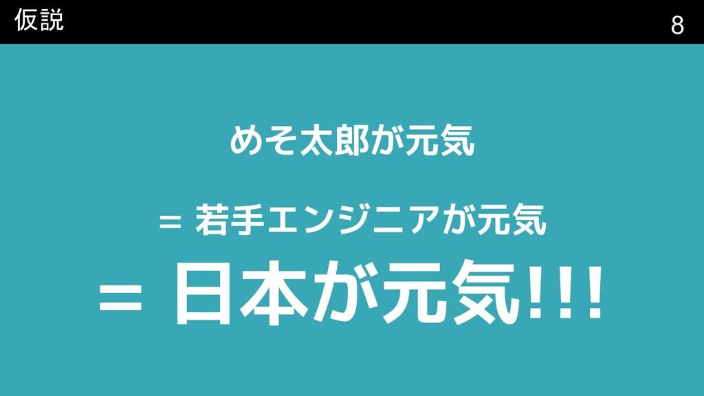 仮説 めそ太郎が元気 = 若手エンジニアが元気 = 日本が元気!!! 8