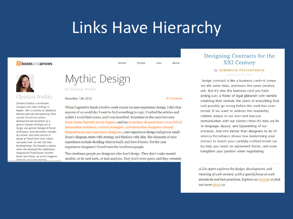 Links Have Hierarchy