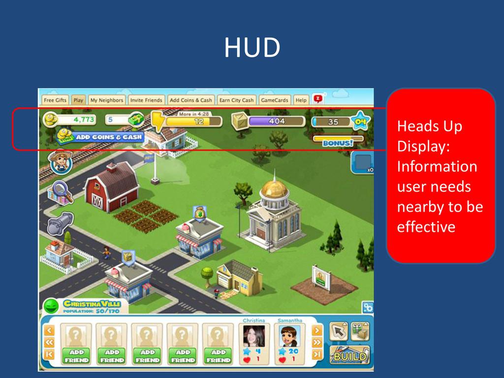 HUD Heads Up Display: Information user needs ne...