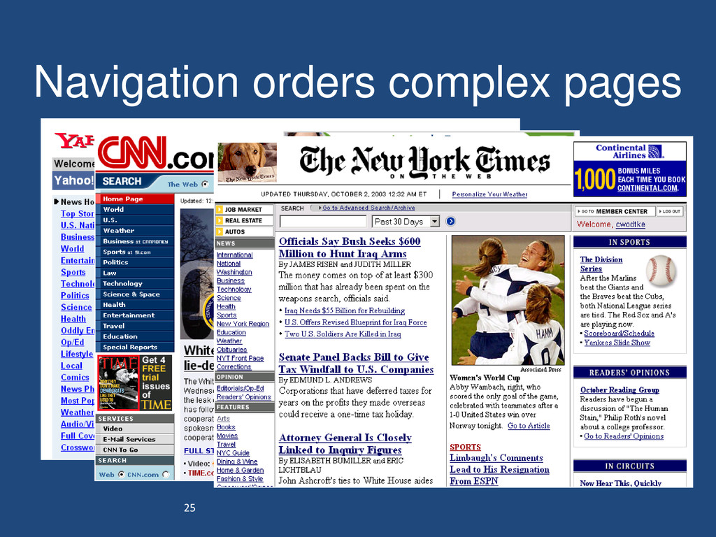 25 Navigation orders complex pages