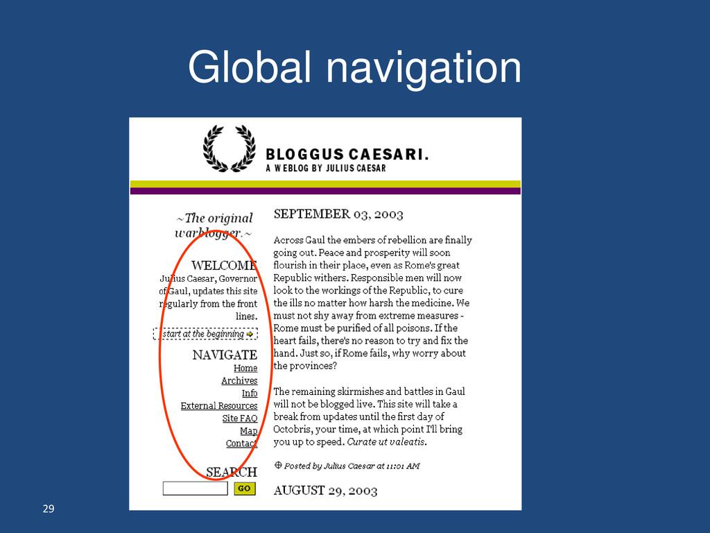 29 Global navigation