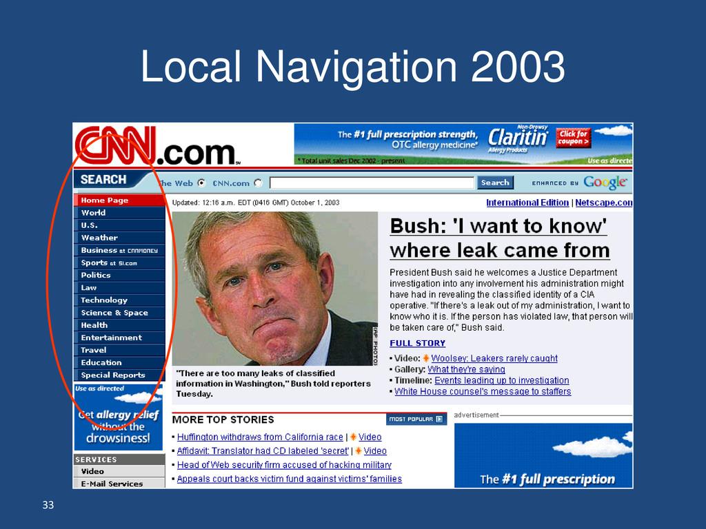 33 Local Navigation 2003