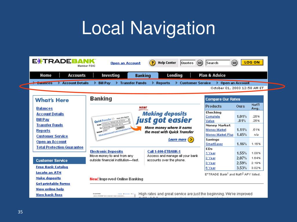 35 Local Navigation