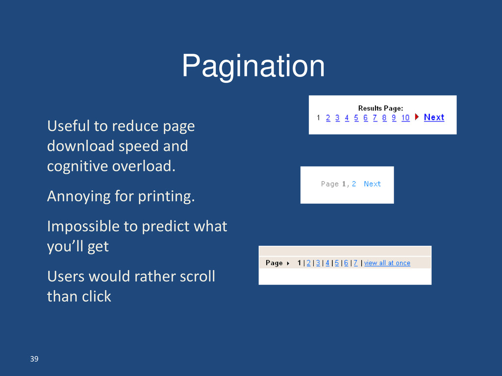 39 Pagination Useful to reduce page download sp...