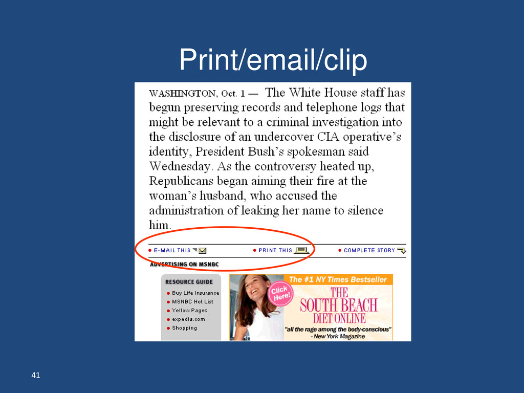 41 Print/email/clip