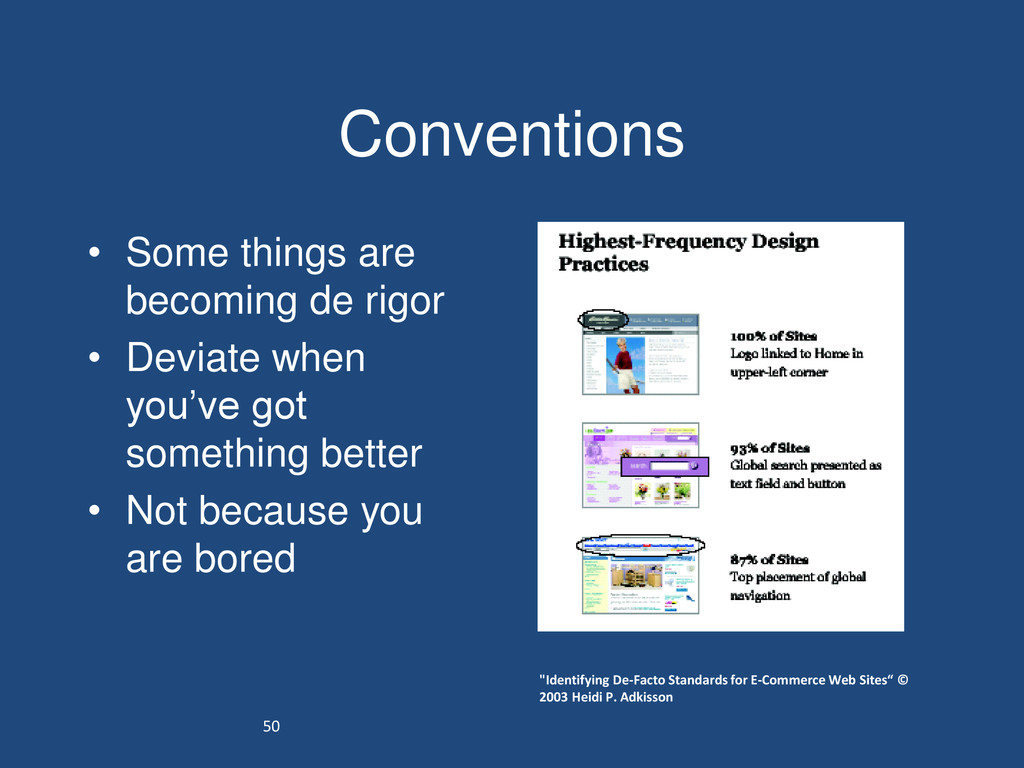 50 Conventions • Some things are becoming de ri...