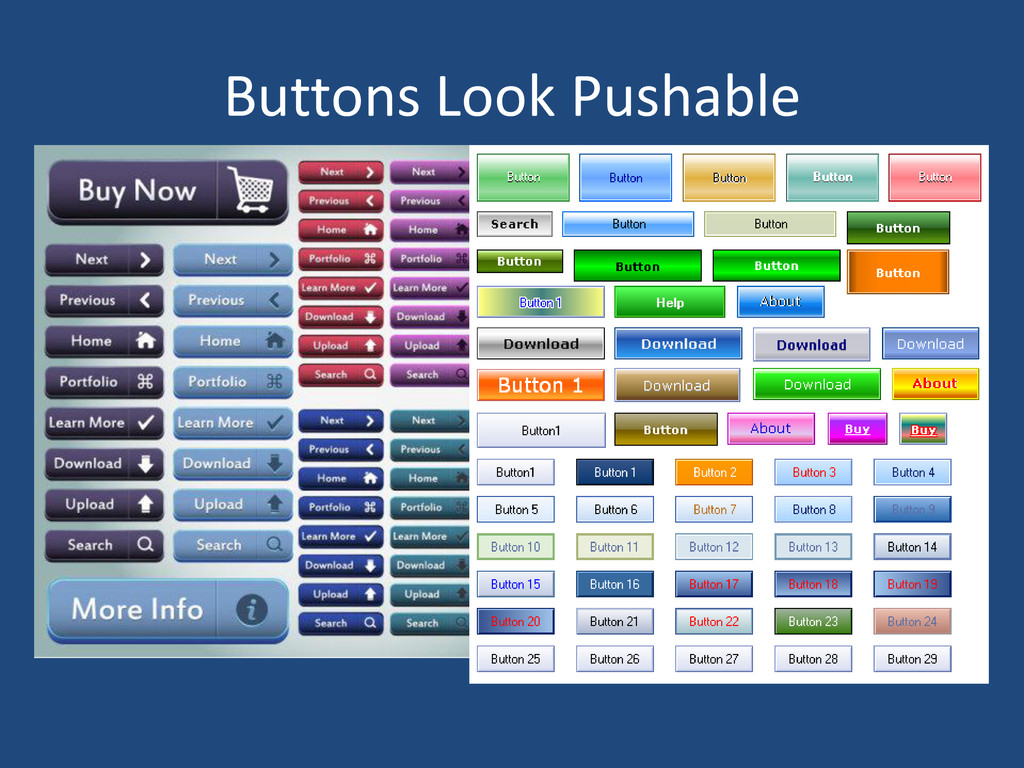 Buttons Look Pushable