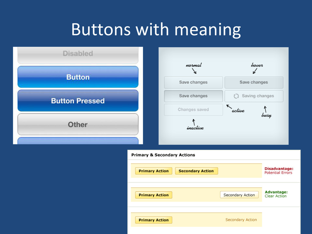 Buttons with meaning