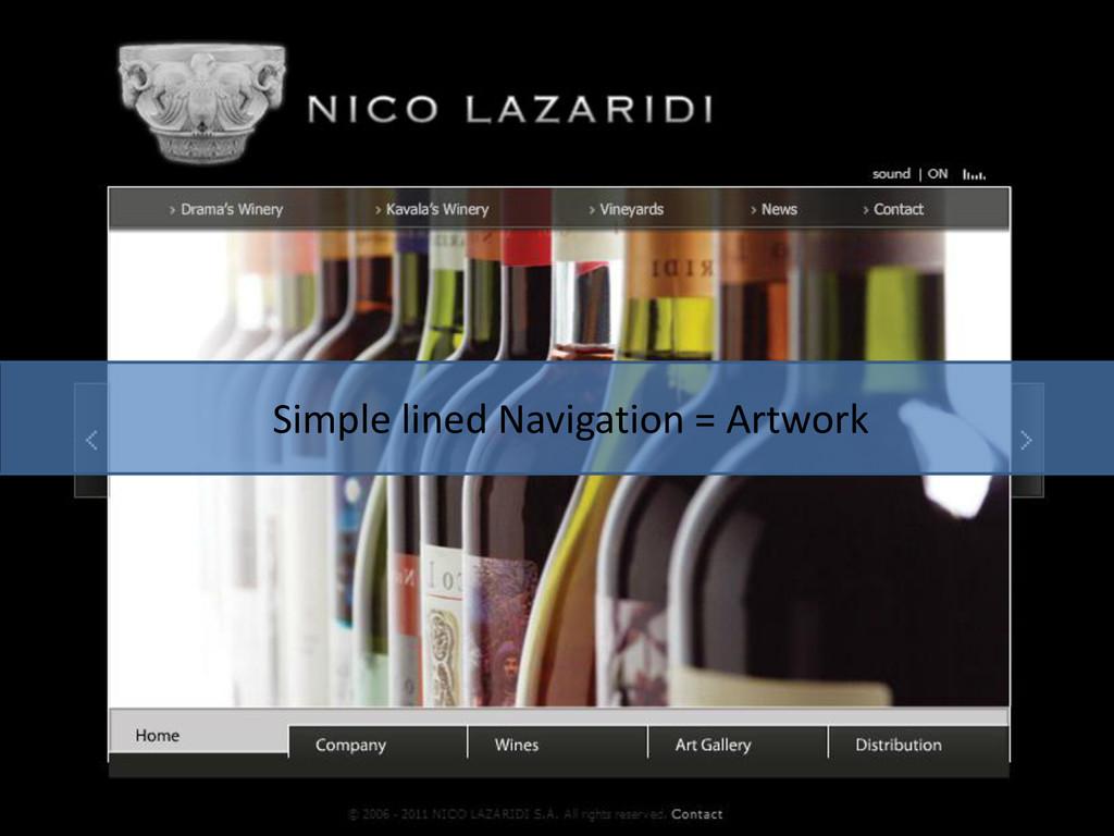 Simple lined Navigation = Artwork
